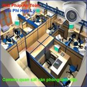 Lắp đặt camera quan sát tại văn phòng làm việc