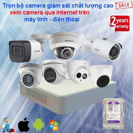Lắp đặt trọn bộ camera an ninh chính hãng giá rẻ