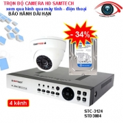 Trọn bộ camera giám sát 4 kênh chất lượng cao Samtech HD 1.0