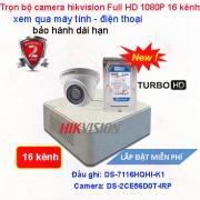 TRỌN BỘ CAMERA 16 KÊNH HIKVISION Full HD 1080P GIÁ RẺ