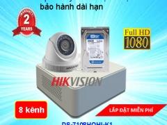 TRỌN BỘ CAMERA 8 KÊNH HIKVISION Full HD 1080P CHẤT LƯỢNG CAO