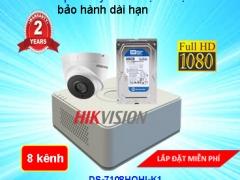 TRỌN BỘ CAMERA 8 KÊNH HIKVISION Full HD 1080P CAO CẤP