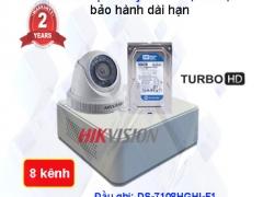 Trọn bộ camera giám sát 8 kênh chất lượng cao Hikvision HD 1.0