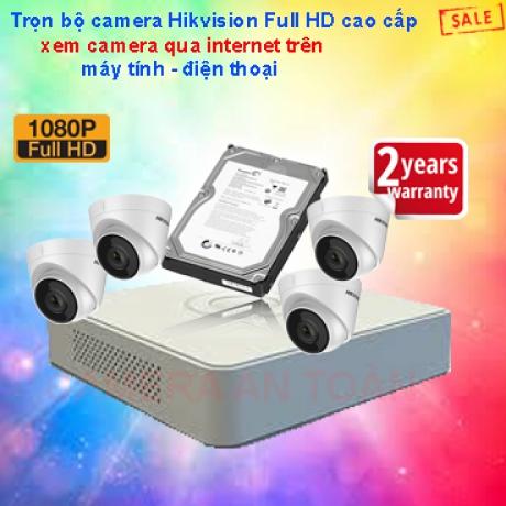 Bộ camera giám sát chất lượng cao Hikvision Full HD 1080P