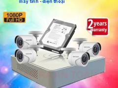 Trọn bộ camera giám sát chất lượng cao Hikvision Full HD 2.0 ngoài trời