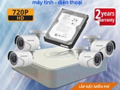 Trọn bộ camera giám sát chất lượng cao Hikvision HD 1.0