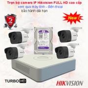 LẮP ĐẶT TRỌN BỘ CAMERA IP HIKVISION FULL HD CAO CẤP